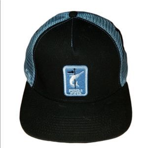 Pukka trucker hat blue marlin front mesh back
